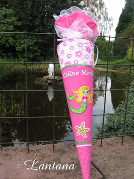 "Schultüte ""Meerjungfrau"" pink-grün"