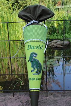 """Schultüte """"Dinosaurier 1"""" grün-oliv"""