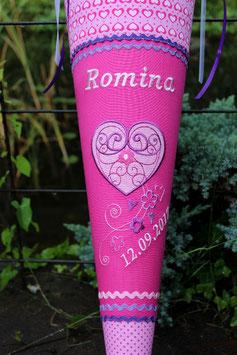 """Schultüte """"Herzchen 1"""" pink-lila-rosa"""