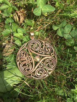 Keltische Triskele Bronze