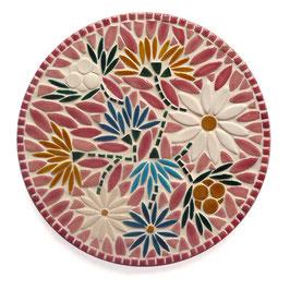 Grand dessous de plat Marguerite rose, diamètre 30 cm