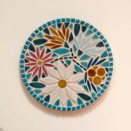 Dessous de plat Marguerite bleu, diamètre 20 cm