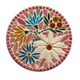 Dessous de plat Marguerite rose, diamètre 20 cm