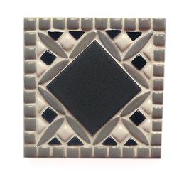 Dessous de carafe Jacquard gris