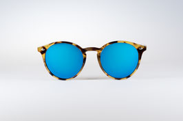 CHAPPEL - leopard / blue  mirrored