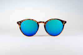 CHAPPEL - leopard / blue green mirrored