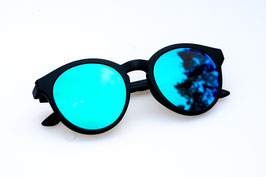 LE CLIP - black / blue green mirrored
