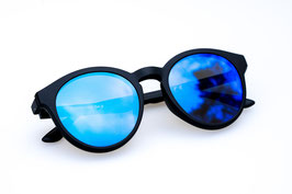 LE CLIP - black / blue mirrored