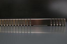 Kiesfangleiste  V2A gebürstet 1,0 mm