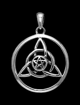 Charmed mit Pentagram im Kreis │ 925 Silber