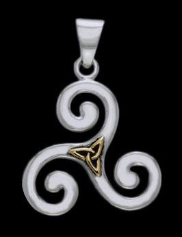 Triskel mit Triqueta vergoldet │ 925 Silber