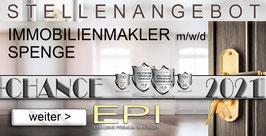 STELLENANGEBOT SPENGE IMMOBILIENMAKLER MAKLER (mwd)