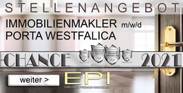 STELLENANGEBOT PORTA WESTFALICA IMMOBILIENMAKLER MAKLER (mwd)