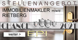 STELLENANGEBOT RIETBERG IMMOBILIENMAKLER MAKLER (mwd)