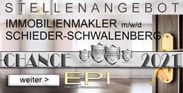 JOBANGEBOT SCHIEDER-SCHWALENBERG IMMOBILIENMAKLER MAKLER (mwd)
