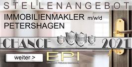 STELLENANGEBOT PETERSHAGEN IMMOBILIENMAKLER MAKLER (mwd)