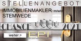 STELLENANGEBOT STEMWEDE IMMOBILIENMAKLER MAKLER (mwd)