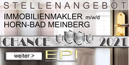 STELLENANGEBOT HORN-BAD-MEINBERG IMMOBILIENMAKLER MAKLER (mwd)