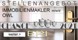STELLENANGEBOT OWL IMMOBILIENMAKLER MAKLER (mwd)