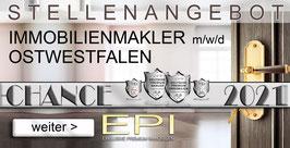 STELLENANGEBOT OSTWESTFALEN IMMOBILIENMAKLER MAKLER (mwd)