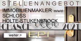 STELLENANGEBOT SCHLOSS HOLTE-STUKENBROCK IMMOBILIENMAKLER MAKLER (mwd)