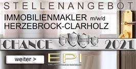STELLENANGEBOT HERZEBROCK-CLARHOLZ IMMOBILIENMAKLER MAKLER (mwd)
