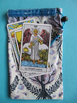 Bolsa tarot árbol de la vida- azul