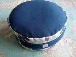 Zafú-Cojín para meditación, vaquero azul