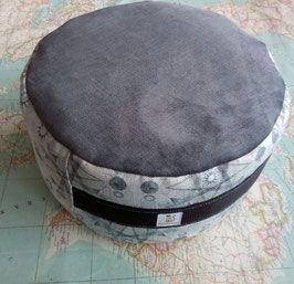 Zafú-Cojín para meditación, gris