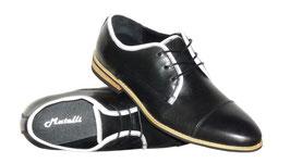 Trendige Schuhe in Untergrößen aus Glattleder in Schwarz (Gr. 38 - 41)
