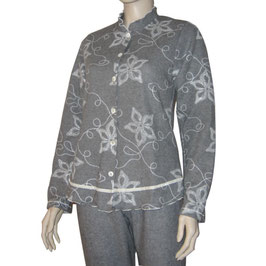 Damen Pyjama ROMY graphit-grau