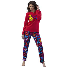 BRITTO Damen Pyjama FLYING HEART