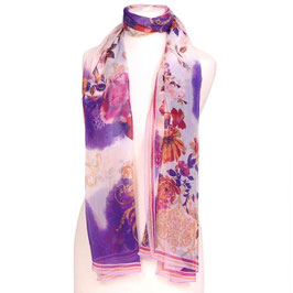 padmera® Seidenschal LITTLE GARDEN pink/fuchsia