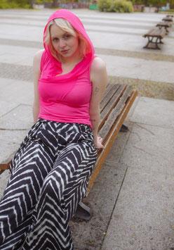 Shirt Löwenzahn, Chiffon-Jersey, pink