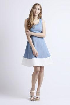 """Kleid """"Kokospalme"""", denim-weiß"""