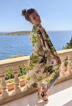 "Kimono ""Sunai"", floral-creme"
