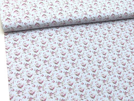 Baumwollstoff helblau rosa B10054