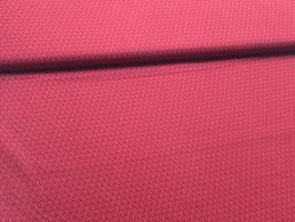 Baumwollstoff rot Federn B10056