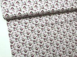 Baumwollstoff rosa pink grün B10045