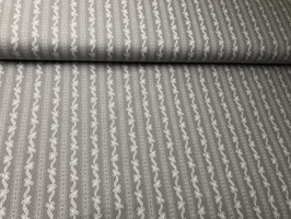 Baumwollstoff grau bedruckt B10020