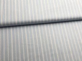 Baumwollstoff hellblau gestreifes Muster B10066