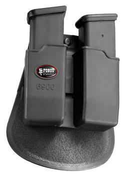 6900 Double Magazine Pouch für Glock Double-Stack 9mm Magazine. Auch passend für H & K P8 9mm Magazine.