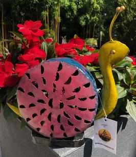 Schnecke aus Metall. Gartendekoration
