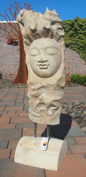 Buddha- Skulptur aus Holz.  Unikat der Extraklasse.In und Outdoor.