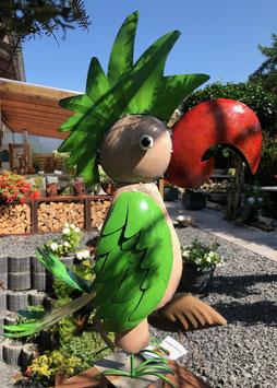 Papagei, Kakadu. XXL Vogelskulptur. Ein Hingucker in Grün