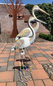 Vogelskulpturen- Set für Wohnraum- Garten- Teich.
