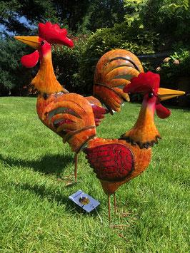 Hahn und Huhn. Dekoration In- und Outdoor