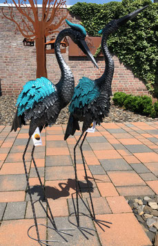 Kraniche, Zwei Skulpturen für Wohnraum- Garten- Teich.