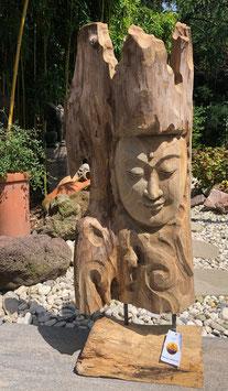 Buddha- Skulptur Statue aus Holz. Ausgefallen und schön. Handmade