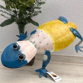 Frosch, Tropische Kröte aus Metall, Dekoration für den Garten